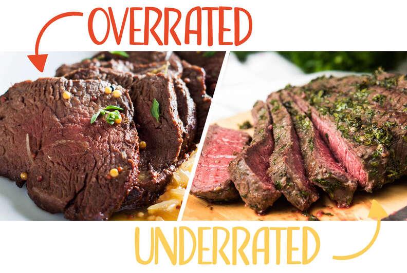hanger steak and grassfed beef