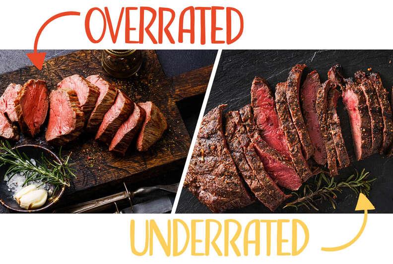 tenderloin and flat iron steak
