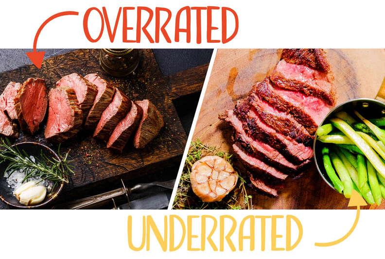 tenderloin and hanger steak