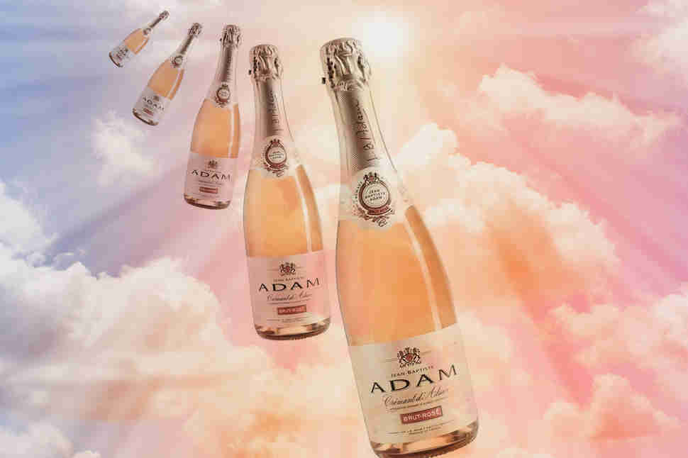sparkling cremant in the sky photo illustration