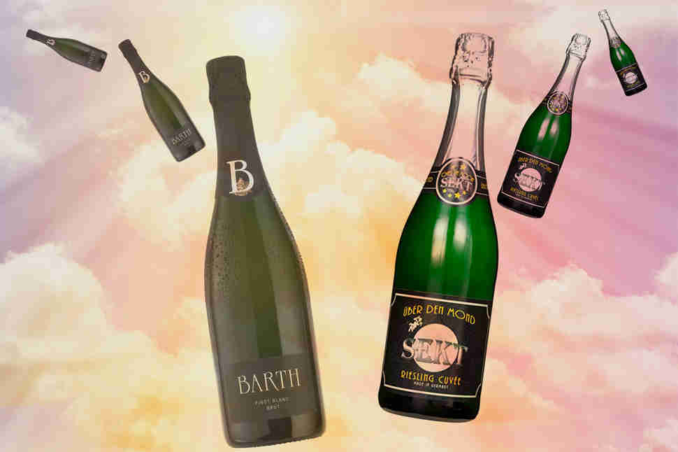 sparkling sekt in the sky photo illustration