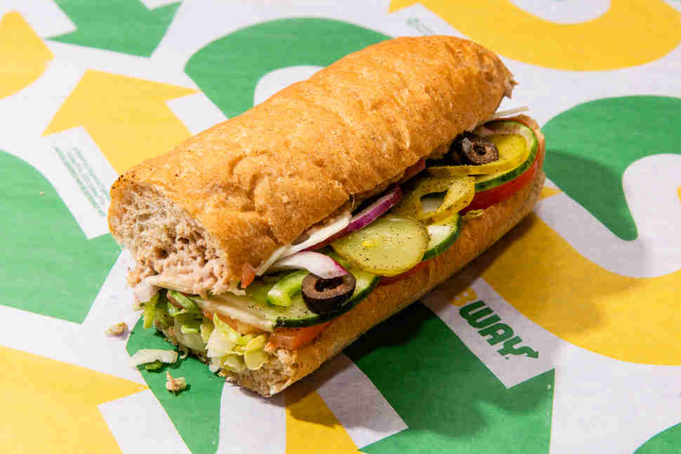Subway Classic Tuna sandwich