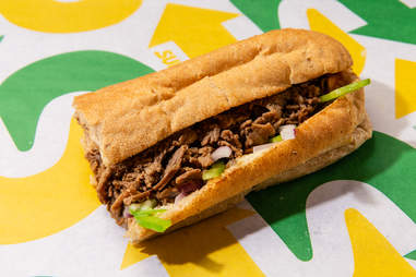 subway steak and cheese sandwich
