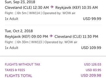 cheap flights iceland