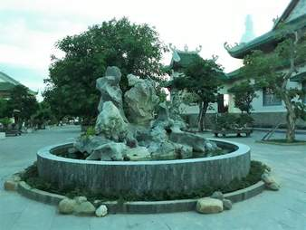 Fountain in Vietnam where sea turtle was found