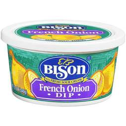 Bison French onion dip