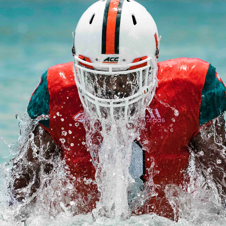 on sale a3a80 e1644 University of Miami Football Uniforms Are Made From Ocean ...