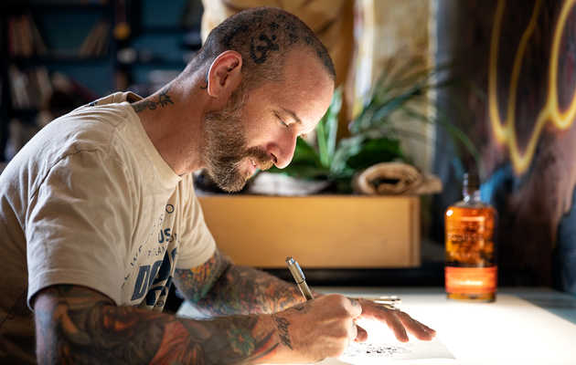 Bulleit's Bottle Got a Portland-Style Makeover, Thanks to a Local Tattoo Artist