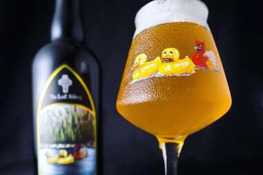 The Lost Abbey barrel aged blonde sour lambic beer beers lambics sours goose goze spontaneously fermented