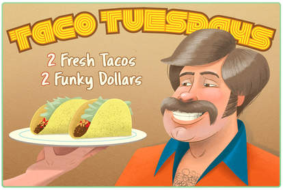 Taco Tuesday illustration