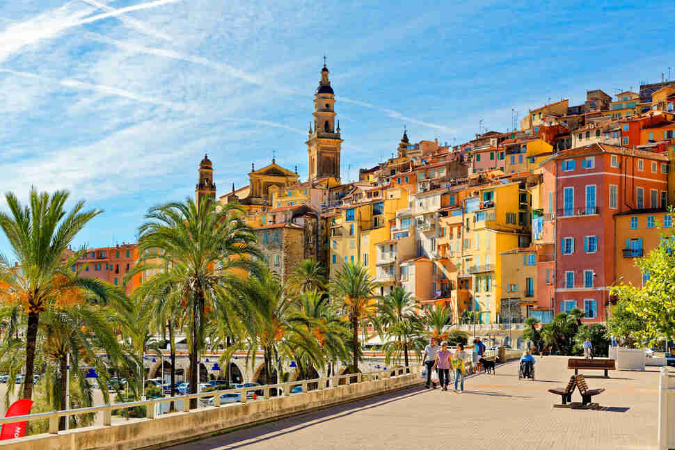 Menton, Cote d'Azur, South of France