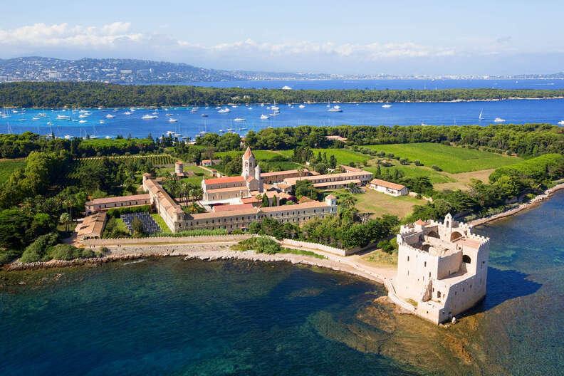 Lerins island of Saint Honorat, Abbey of Lerins