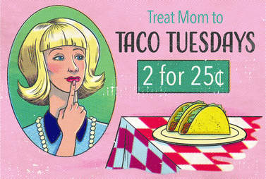 taco tuesday ad cartoon