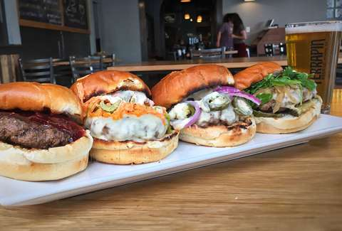 Burgers from Trappeze Pub, Athens, Georgia