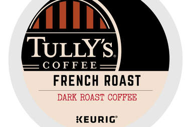 Tully's French Roast Extra Bold coffee keurig kcup coffees