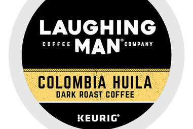 Laughing Man Colombia Huila keurig cup kcup dark roast coffee
