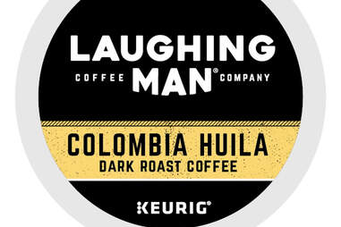Laughing Man Colombia Huila keurig cup kcup dark roast coffee