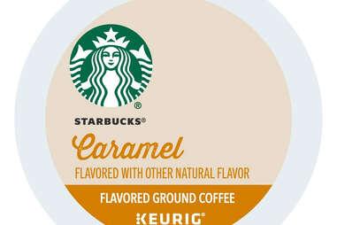 Keurig cup Starbucks caramel kcup flavored ground coffee coffees sbux