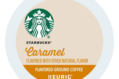 Keurig cup Starbucks caramel kcup flavored ground coffee coffees sbux