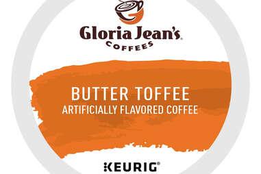 Gloria Jean's Butter Toffee keurig cup flavored coffee coffees kcup