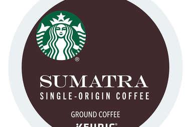 Keurig Cup Starbucks Sumatra coffee single origin ground kcup