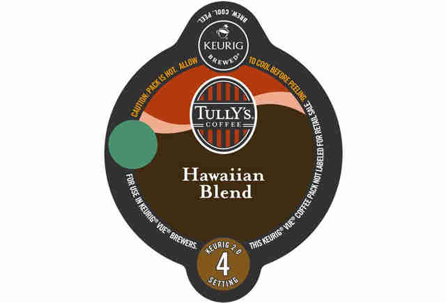 Keurig cup Tully's Hawaiian blend