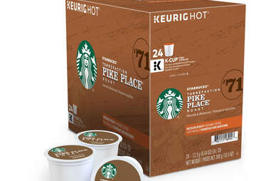 Starbucks Pike Place Roast k cups kcups thrillist ranking coffee coffees blend roasted