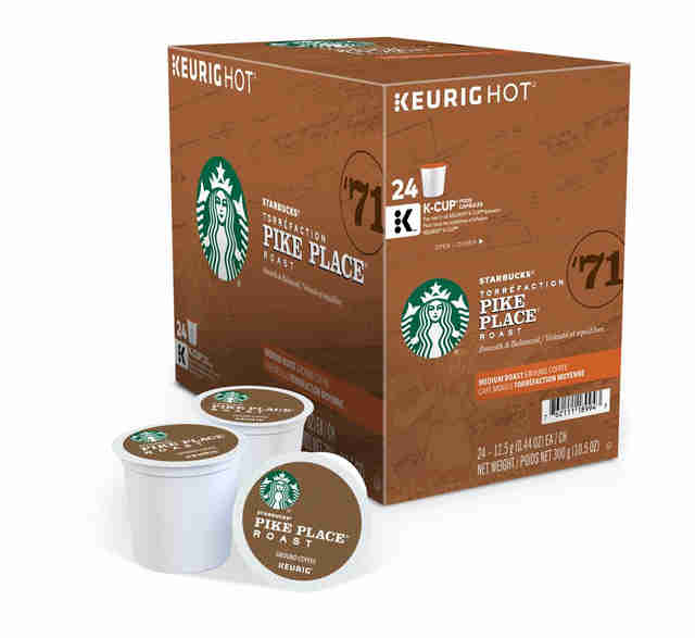 Starbucks Pike Place Roast k cups