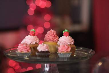 Strawberry cupcakes from the Cupcakerie, Morgantown, West Virginia