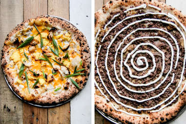 pizzas with crazy toppings