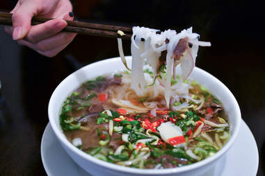 Traditional Vietnamese beef soup Pho Bo