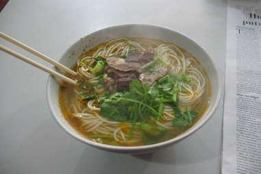 La Mian noodles instant ramen noodle soup wheat beef spicy