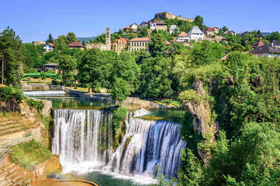 Jajce town in Bosnia