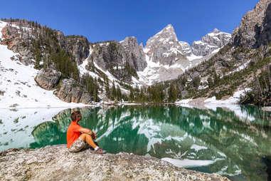 Delta Lake, Grand Teton National Park, Wyoming, USA