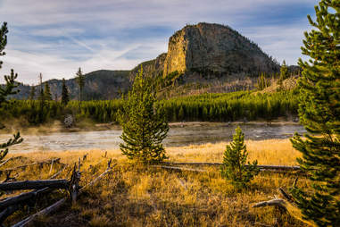 Mount Haynes and Madison River, Yellowstone National Park