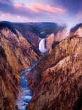 Grand Canyon of Yellowstone National Park, waterfall