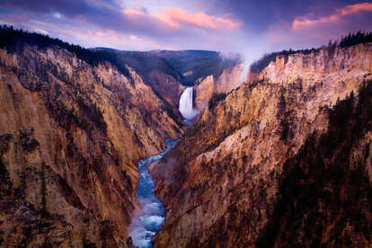 Grand Canyon of Yellowstone National Park, waterfall