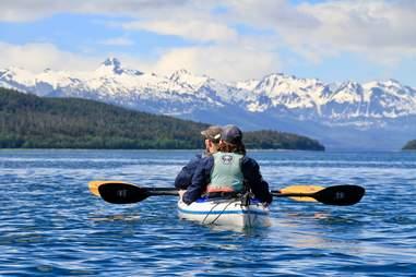 Kayaking around Channel Islands