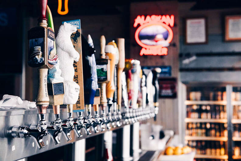 Alaskan Brewing Co. beer taps