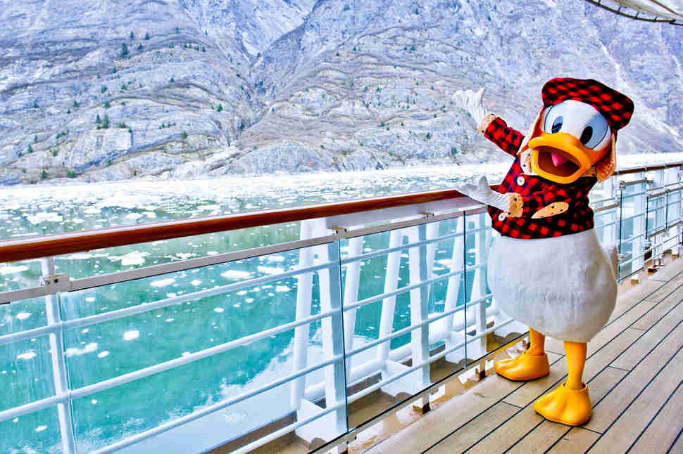 Donald Duck on Disney Cruise Line in Alaska