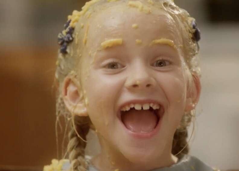cheddar goblin, mandy, macaroni eyebrows girl