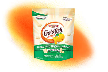 parmesan Goldfish snack, organic wheat variety