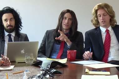 Longhaired Businessmen
