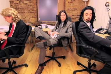 Long Haired Businessmen