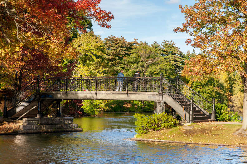 Polo Lake in Roger Williams Park, Rhode Island