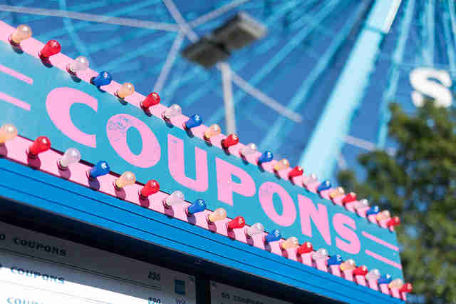 State Fair of Texas coupons sign
