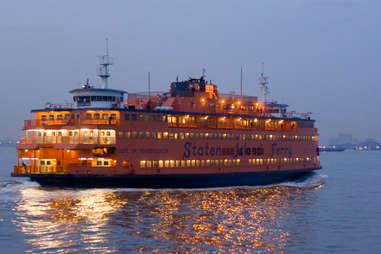 Staten Island Ferry At Night