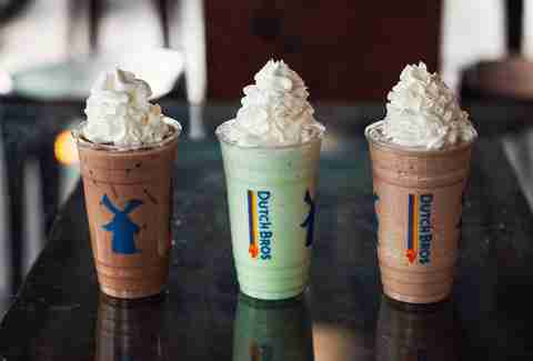 Toasted Marshmallow Mocha, Ninja, and Bob Frost from Dutch Bros secret menu