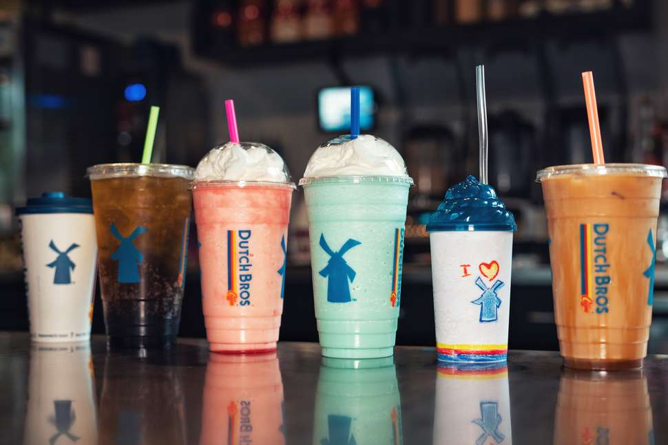 Dutch Bros frappuccinos