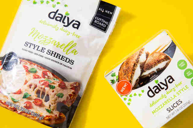 Daiya mozzarella shreds and slices